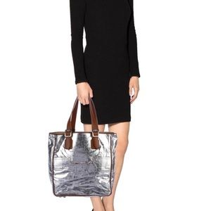 HUNTER HALLE N/S LEATHER TOTE